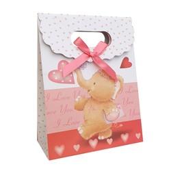 Fako Bijoux® - Cadeautasje - Geschenk Tas - Olifantje - I Love You - 12.5x16x6cm - 5 Stuks