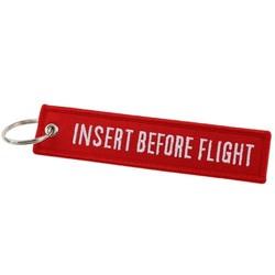 Fako Bijoux® - Sleutelhanger - Insert Before Flight - Rood