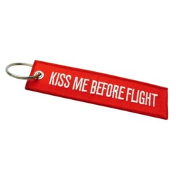 Fako Bijoux® - Sleutelhanger - Kiss Me Before Flight - Rood