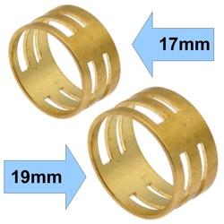 Fako Bijoux® - Set Hulpringen Voor Sieraden Oogjes - Sieraden Maken - Oogjes Openen/Sluiten - 17mm+19mm - Goud