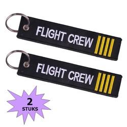 Fako Bijoux® - Sleutelhanger - Flight Crew - Mini - 2 Stuks