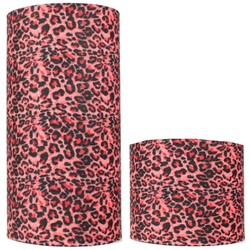 Fako Fashion® - Microfiber Faceshield - Bandana - Nekwarmer -  Sjaal - Luipaard Roze