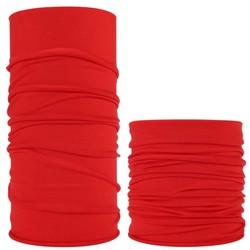 Fako Fashion® - Microfiber Faceshield - Bandana - Nekwarmer -  Sjaal - Uni - Rood