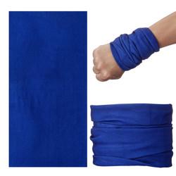 Fako Fashion® - Microfiber Faceshield - Bandana - Nekwarmer - Sjaal - Uni - Blauw