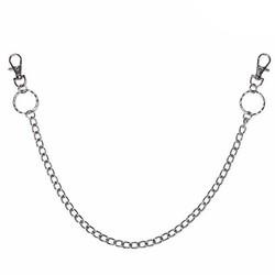Fako Bijoux® - Sleutel/Broek/Portemonnee Ketting - 48cm - Zilverkleurig