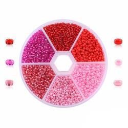 Fako Bijoux® - DIY Kralen Set - Glas Zaad Kralen - Sieraden Maken - 2mm - 7000 Stuks - Roze