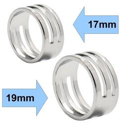 Fako Bijoux® - Set Hulpringen Voor Sieraden Oogjes - Sieraden Maken - Oogjes Openen/Sluiten - 17mm+19mm - Zilver