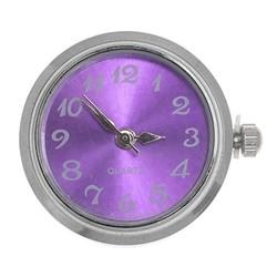 Fako Bijoux® - Click Button Horloge - Paars