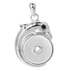 Fako Bijoux® - Kettinghanger Voor Click Buttons - Dolfijn