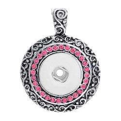 Fako Bijoux® - Kettinghanger Voor Click Buttons - Deluxe Strass - Roze
