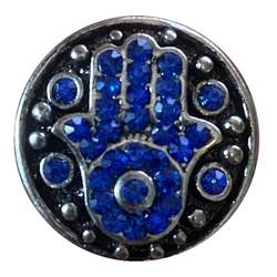 Fako Bijoux® - Click Button - Metaal - Strass Hamsa