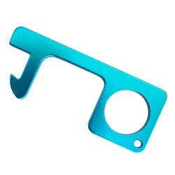 Fako Bijoux® - No Touch Key -  Contactloze Deuropener - Antibacteriële Sleutelhanger - Hygiëne Sleutel - Aluminium - Lichtblauw