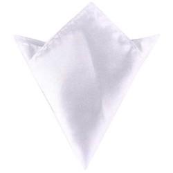 Fako Fashion® - Pochette - Pochet - Satijn - 22x22cm - Wit