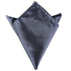 Fako Fashion® - Pochette - Pochet - Satijn - 22x22cm - Donkergrijs