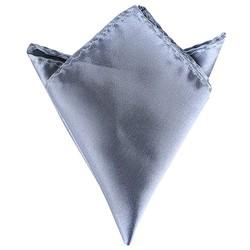 Fako Fashion® - Pochette - Pochet - Satijn - 22x22cm - Grijs
