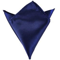 Fako Fashion® - Pochette - Pochet - Satijn - 22x22cm - Donkerblauw