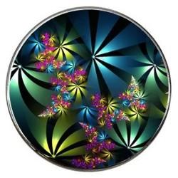 Fako Bijoux® - Click Button - Glas - Multicolour Shine