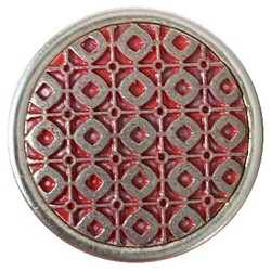Fako Bijoux® - Click Button - Metaal - Patroon - Rood