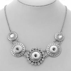 Fako Bijoux® - Ketting Voor Click Buttons - Exclusive - Zilverkleurig