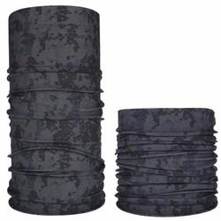 Fako Fashion® - Microfiber Faceshield - Bandana - Nekwarmer -  Sjaal - Block Grijs