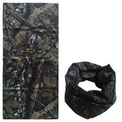 Fako Fashion® - Microfiber Faceshield - Bandana - Nekwarmer -  Sjaal - Camouflage Oak