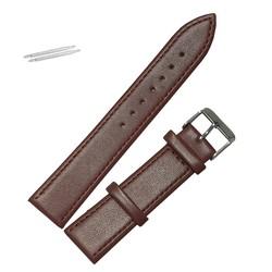 Fako® - Horlogebandje - Echt Leer - Soft - 20mm - Bruin