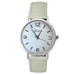 Fako® - Horloge - Geneva - Romerio - Ø 38mm - Wit