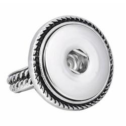 Fako Bijoux® - Ring Voor Click Buttons - Retro Model 1