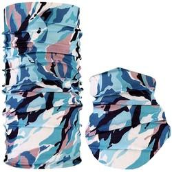 Fako Fashion® - Microfiber Faceshield - Bandana - Nekwarmer -  Sjaal - Wacky Blauw/Roze