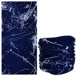 Fako Fashion® - Microfiber Faceshield - Bandana - Nekwarmer -  Sjaal - Paint Navy Blauw