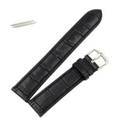 Fako® - Horlogebandje - Kunstleer - Croco - 18mm - Zwart