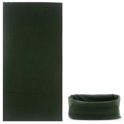 Fako Fashion® - Microfiber Faceshield - Bandana - Nekwarmer - Sjaal - Effen - Army Groen