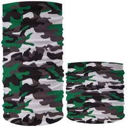 Fako Fashion® - Microfiber Faceshield - Bandana - Nekwarmer -  Sjaal - Camouflage GGWZ