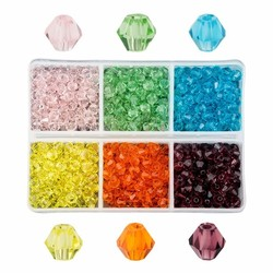 Fako Bijoux® - DIY Kralen Set - Glas Kralen Facet Geslepen - Sieraden Maken - 4mm - 600 Stuks - Macaron