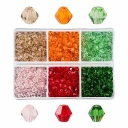 Fako Bijoux® - DIY Kralen Set - Glas Kralen Facet Geslepen - Sieraden Maken - 4mm - 600 Stuks - Watermeloen
