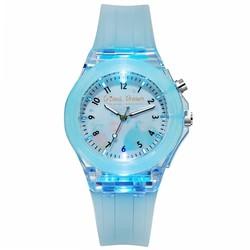 Fako® - Kinderhorloge - Siliconen - Light - Ø 38mm - Cristal Dream - Lichtblauw
