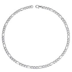 Fako Bijoux® - Ketting Staal - RVS - Figaro - 3mm - 55cm - Zilverkleurig