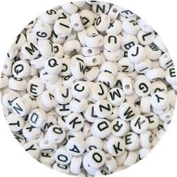 Fako Bijoux® - Letterkralen - Letter Beads - Alfabet Kralen - Sieraden Maken - 500 Stuks - Wit