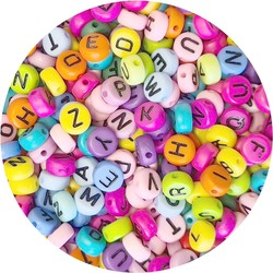 Fako Bijoux® - Letterkralen - Letter Beads - Alfabet Kralen - Sieraden Maken - 500 Stuks - Mix