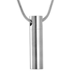 Fako Bijoux® - Ashanger / Assieraad - Cilinder - Edelstaal - 8x33mm - Zilverkleurig