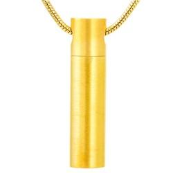 Fako Bijoux® - Ashanger / Assieraad - Cilinder - Edelstaal - 8x33mm - Goudkleurig