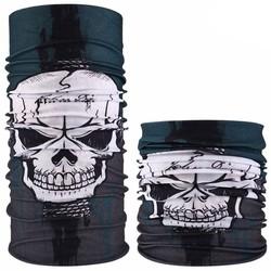 Fako Fashion® - Microfiber Faceshield - Bandana - Nekwarmer - Sjaal - Skull Camo