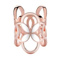 Fako Bijoux® - Sjaalklem - Tube - Wit - 22x26mm - Rosé Goudkleurig