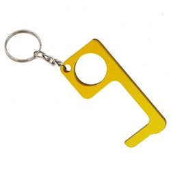 Fako Bijoux® - No Touch Key - Contactloze Deuropener - Antibacteriële Sleutelhanger - Hygiëne Sleutel - Aluminium - Goud