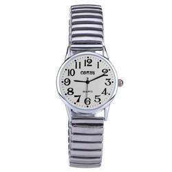 Fako® - Horloge - Rekband - Comby Classic - Ø 28mm - Wit