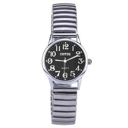 Fako® - Horloge - Rekband - Comby Classic - Ø 28mm - Zwart