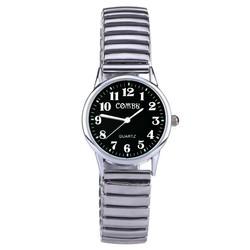 Fako® - Horloge - Rekband - Comby - Ø 28mm - Zwart
