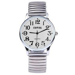 Fako® - Horloge - Rekband - Comby Classic - Ø 36mm - Wit