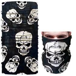 Fako Fashion® - Microfiber Faceshield - Bandana - Nekwarmer -  Sjaal - Skull Dubbelzijdig