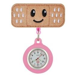 Fako® - Verpleegstershorloge - Roller Pleister - Emoji Smile - Roze